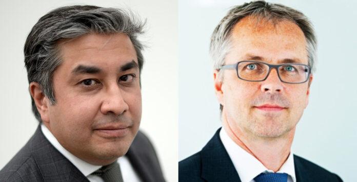 Nach Uneinigkeiten über die zukünftige Ausrichtung der Stahlsparte zieht Premal Desai (links) nach rund 14 Jahren Thyssenkrupp seinen Hut. Für ihn übernimmt Carsten Evers (rechts) die Position des Finanzvorstandes.