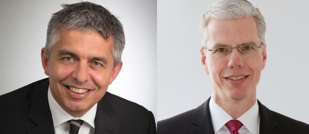 Michael Andersen (links) wird neuer CFO bei Krones. Er folgt auf Christoph Klenk (rechts), der neuer Konzernchef wird.