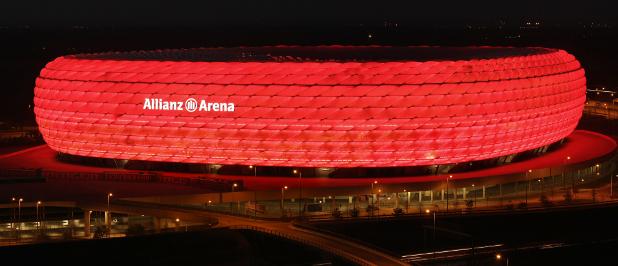 Hingucker Allianz Arena. Auch die 450 Millionen Euro schwere Anleihe der Allianz SE sticht hervor.