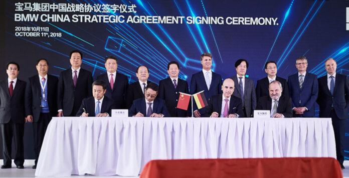 Gruppenbild mit Vorstand: BMW und Brilliance China Automotive verteilen die Anteile im Joint Venture neu.
