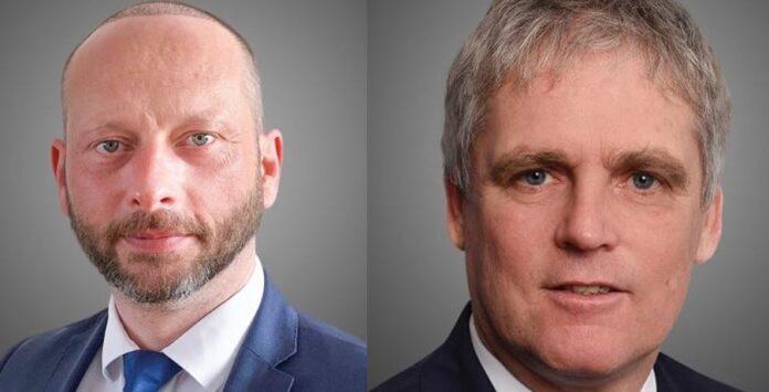 Markus Domin (links) und Uwe Heim (rechts) arbeiten in dem neuen Deutschland-Ankura-Büro.