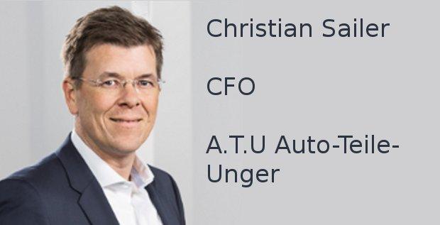 Christian Sailer, CFO der Werkstattkette A.T.U Auto-Teile-Unger, beantwortet den FINANCE-Fragebogen.