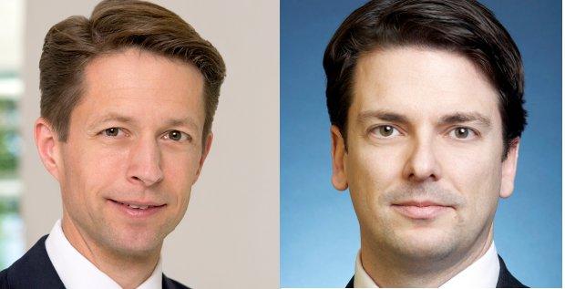 Berthold Fürst (links) und Patrick Frowein (rechts) sind die neuen Leiter des Corporate Finance Gechäfts der Deutschen Bank in der DACH-Region.