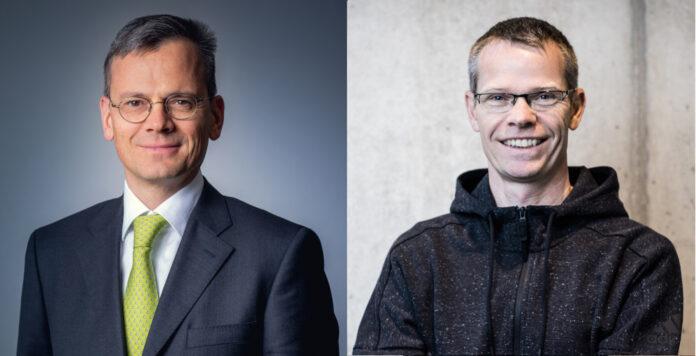 Airbus-CFO Dominik Asam (links) und Adidas-Finanzchef Harm Ohlmeyer (rechts) sind nun als Krisenmanager gefragt.