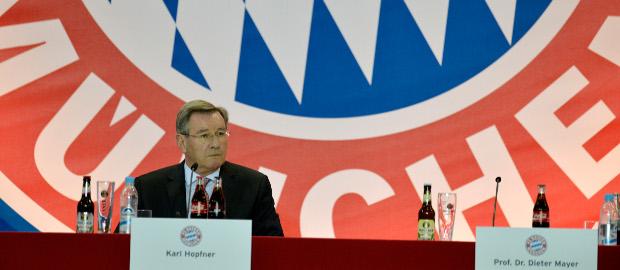 Bayern-Präsident Karl Hopfner bei der Jahreshauptversammlung vom vergangenen Freitag: