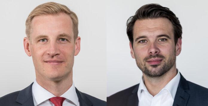 Stephan Ortolf (links) und Franz Welter (rechts) sind zwei von mehreren hundert Kollegen, die für die DZ Bank Innovationsthemen im Blick haben.