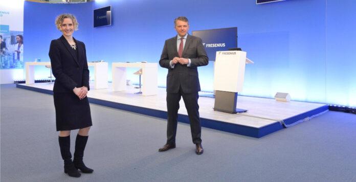 Einst ein Traumpaar des Kapitalmarkts, jetzt schwer unter Druck: Die Fresenius-Chefs Rachel Empey (CFO) und Stephan Sturm (CEO)