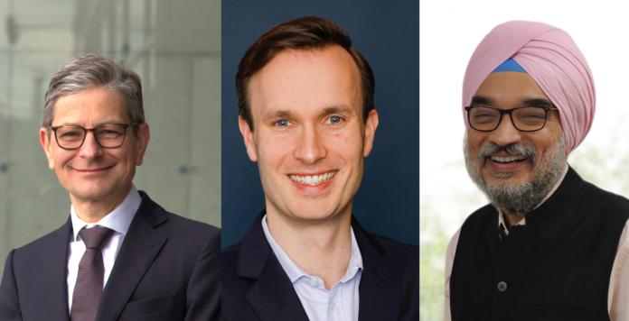 Wechseln alle drei in die Private-Equity-Einheit von EY Parthenon (von links): Georg Hochleitner, Simon Oertel und Malvinder Singh.