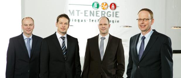 Die alte MT-Energie-Riege: Bernd Meyer, Torben Brunckhorst, Dr. Holger Schmitz u. Christoph Martens (von links)