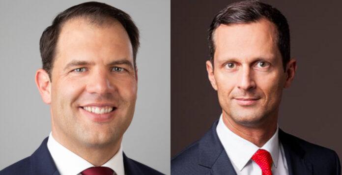 Stephan Hemmerich (links) und Daniel Dalter (rechts) kommen von der Deutschen Bank und leiten künftig bei der Hypovereinsbank im Firmenkundengeschäft die Regionen Ost und West.