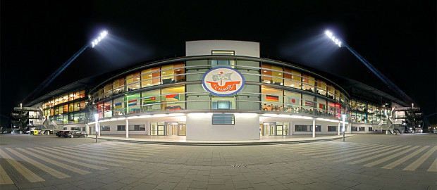 Die DKB-Arena in Rostock: Ein Schuldenschnitt bannt die Pleitegefahr bei Hansa Rostock.