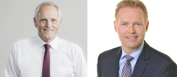 Im Mai nächsten Jahres soll Jesper Andersen (rechts) Finanzchef Ulrich Schmidt (links) bei Beiersdorf beerben.