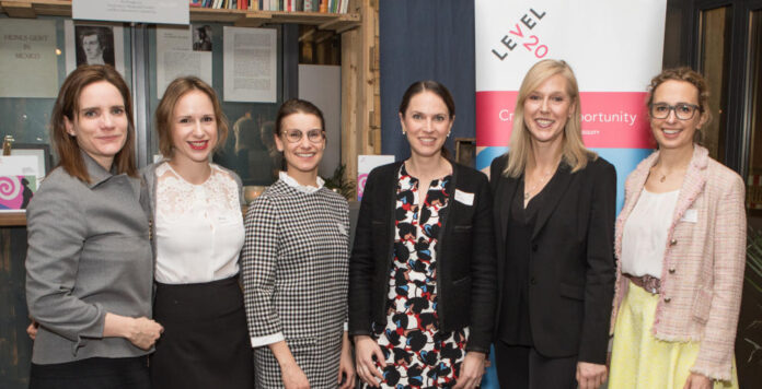 Das Level20-Team v.l.n.r. um Giovanna Maag (Altor Equity Partners), Michala Rudorfer (Permira), Laura Schröder (Advent), Anja Bickelmaier (Triton), Dörte Höppner (Riverside) und Martina Pfeifer (Advent) wollen Private-Equity-Karrieren von Frauen fördern.