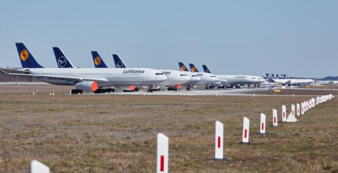 Geparkt: Wegen der Coronakrise hat die Lufthansa einen Teil der Flotte vorübergehend stillgelegt.