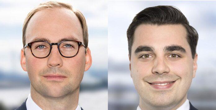 Philipp Lauenstein (rechts) wird neuer CFO bei MPC Capital. Sein Vorgänger Constantin Baack (links) konzentriert sich nun auf das Shipping-Ressort.