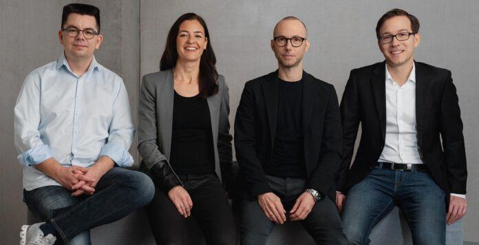 Das Management von Mister Spex will die Berliner an die Börse bringen. Von links nach rechts: Co-CEO Dirk Graber, Co-CEO Mirko Caspar, CHRO Maren Kroll und CFO Sebastian Dehnen.