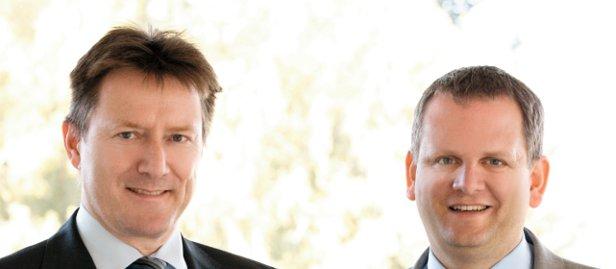 Hess-Ex-CEO Peter Ziegler (links) und Ex-CFO Christoph Hess in der Zeit vor dem möglichen Bilanzskandal.