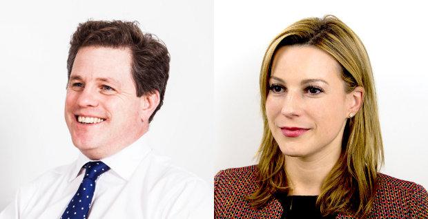 Glauben, dass Investmentmanager das Zeug zum CFO haben: Die Headhunter Rupert Bell und Nadja Essmann.