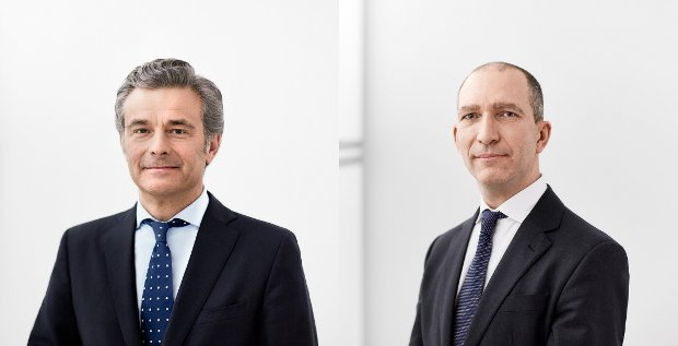 Die neue französische Führung der BHF Bank: Philippe Oddo (CEO) und Christophe Tadié (CFO)