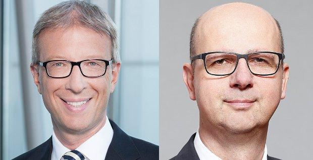 Zwei Personalwechsel bei der NordLB: Günter Tallner (links) kommt von der Commerzbank und wird der neue Firmenkundenchef der Norddeutschen. Christoph Dieng steigt intern auf und wird Risikovorstand.