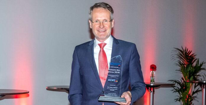 """Klaus Wirbel und sein Treasury-Team von der Rewe Group erhalten in diesem Jahr die Auszeichnung zum """"Treasury des Jahres 2018""""."""