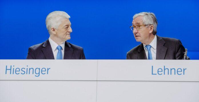 Waren gegen eine Zerschlagung von ThyssenKrupp: Ex-CEO Heinrich Hiesinger (links) und sein scheidender Aufsichtsratschef Ulrich Lehner (rechts).