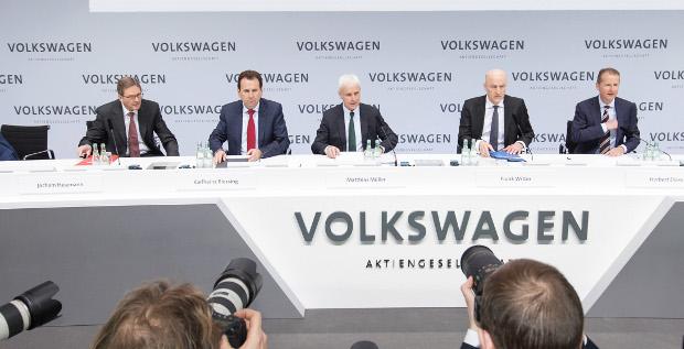 Der Vorstand von VW steht momentan im Zentrum der Debatte um Vorstandsgehälter.