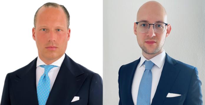 Eric Ostermann (links) und Christopher Kuckei sind neu im Frankfurter Team des Private-Debt-Fonds Tikehau Capital.